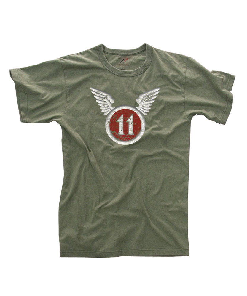 Rothco 11th Airborne Vintage Military Tee - Olive Drab