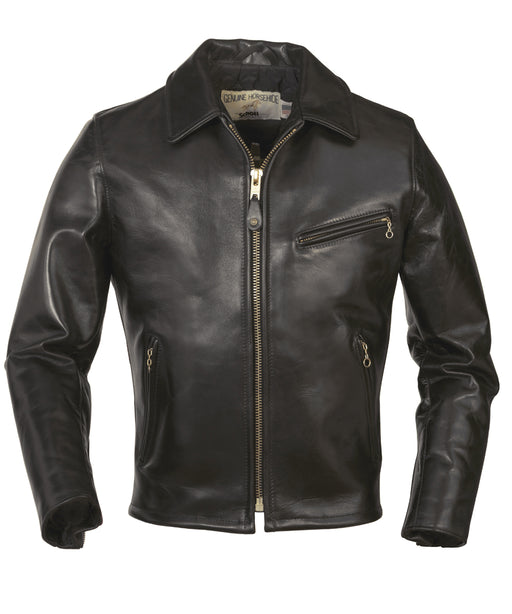 Schott 689H Retro Racer Motorcycle Jacket - Black