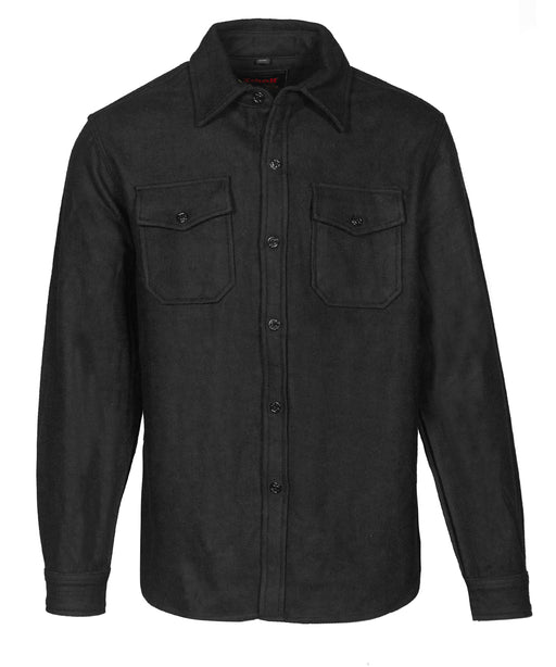 Schott Men's CPO Wool Shirt - 7810 - Black