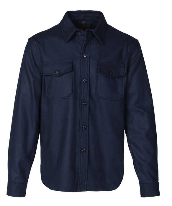 Schott NYC Men's CPO Wool Shirt in Blue at Dave's New York