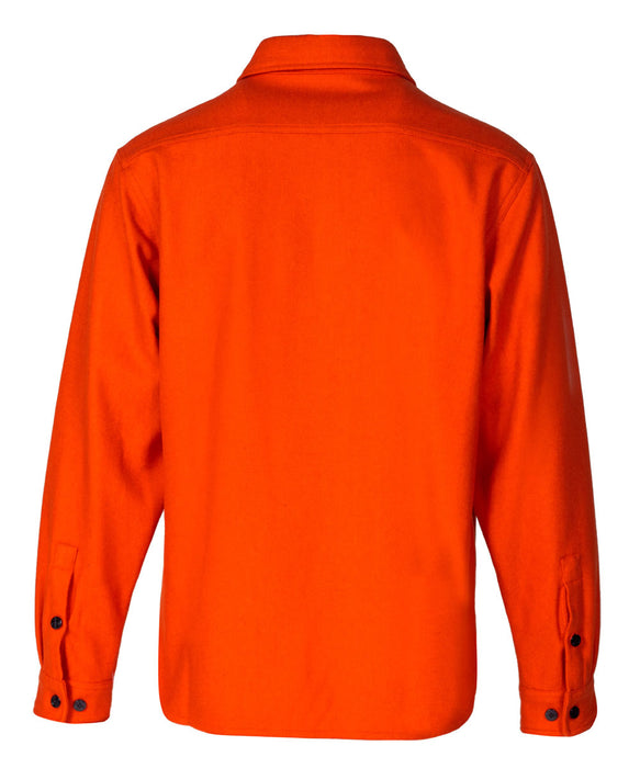 Schott NYC Men's CPO Wool Shirt in Orange at Dave's New York