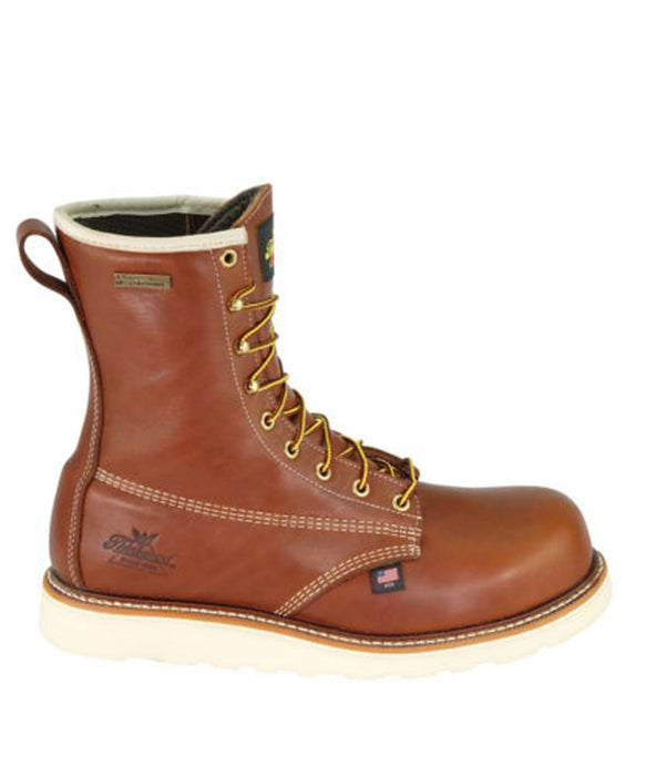 Thorogood American Heritage 8-inch Composite Toe Wedge Work Boots in Tobacco at Dave's New York