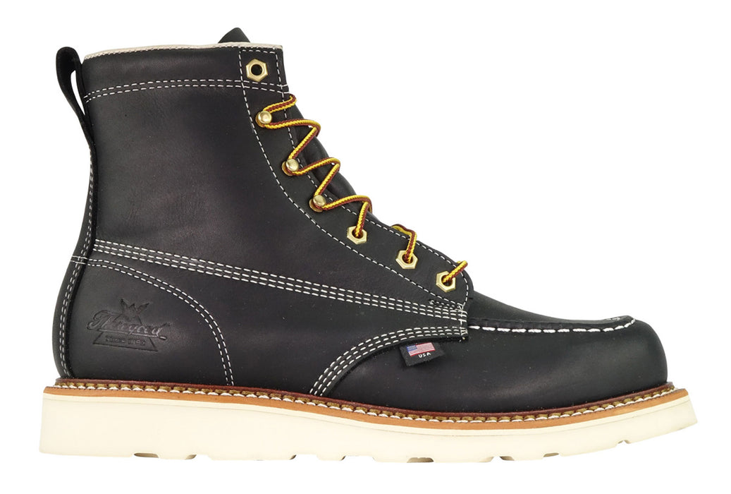 Thorogood American Heritage 6-inch Moc Toe in Black at Dave's New York