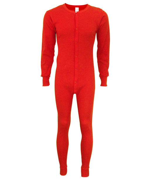 Indera Mills Men's Unionsuit - Red