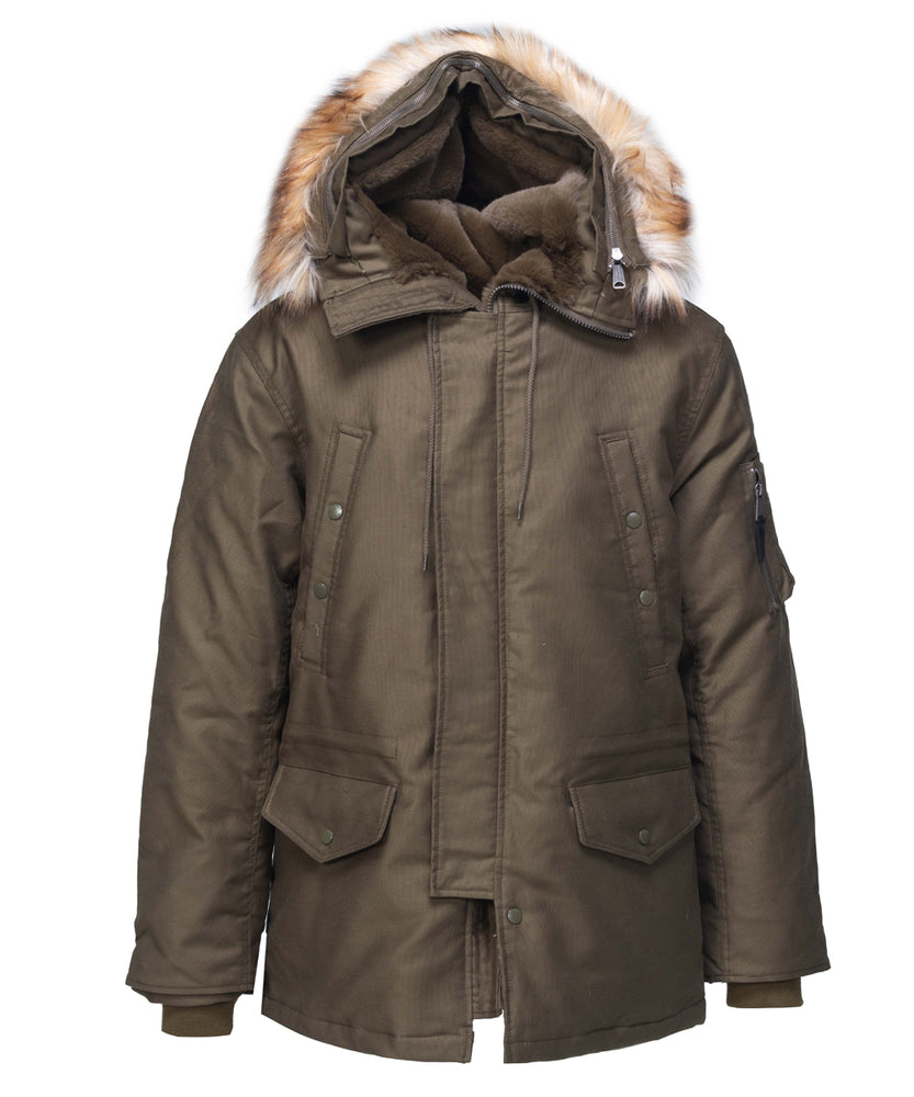 Schott NYC Men's Bedford Cord Down Parka - 8729D - Olive