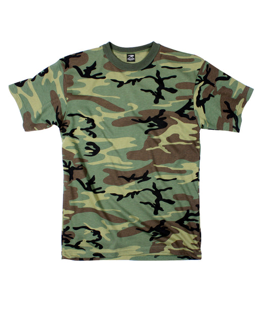Rothco Camouflage T-shirt in Woodland at Dave's New York