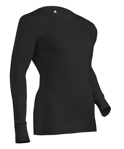 Indera Expedition Weight Cotton Raschel Knit Thermal Top - Black