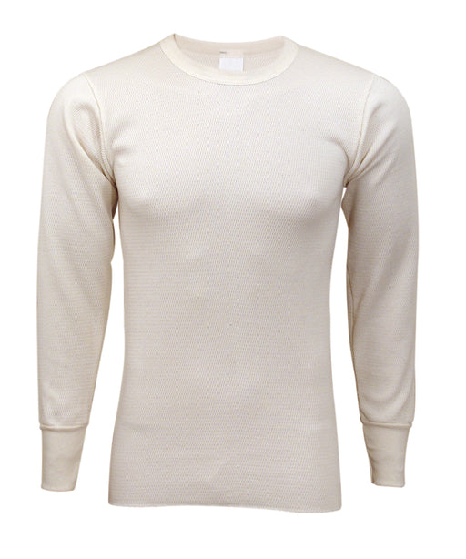 Indera Men's Cotton Expedition Weight Thermal Shirt (model 890LS) - Natural