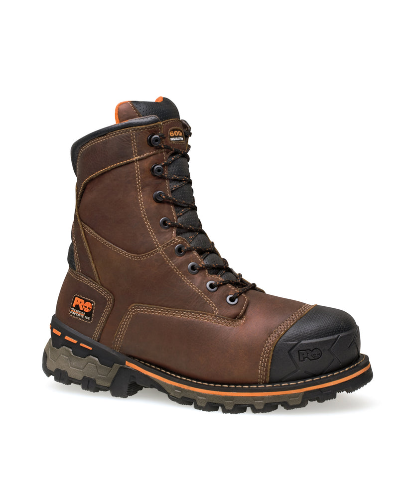 Timberland PRO® Men's Boondock 8-inch Safety Toe Work Boots in Brown at Dave's New York