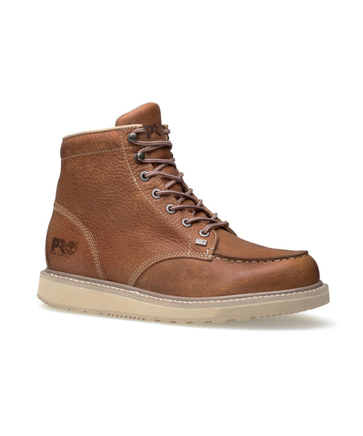 Timberland PRO Men's Barstow Wedge Moc Toe Work Boots - 89647 in Rust at Dave's New York