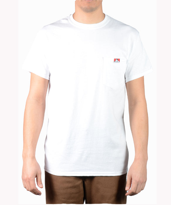 Ben Davis Short Sleeve Pocket T-shirt in White at Dave's New York