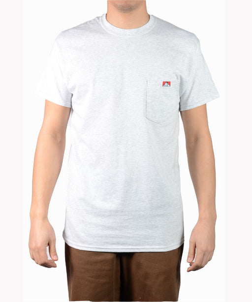 Ben Davis Short Sleeve Pocket T-shirt in Ash Grey at Dave's New York Ash Grey