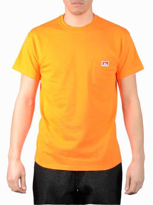 Ben Davis Short Sleeve Pocket T-shirt in Bright Orange at Dave's New York