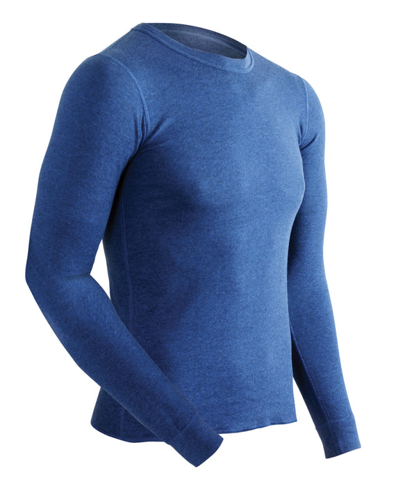 ColdPruf Authentic Wool Plus Men's Thermal Underwear Top in Vintage Navy at Dave's New York