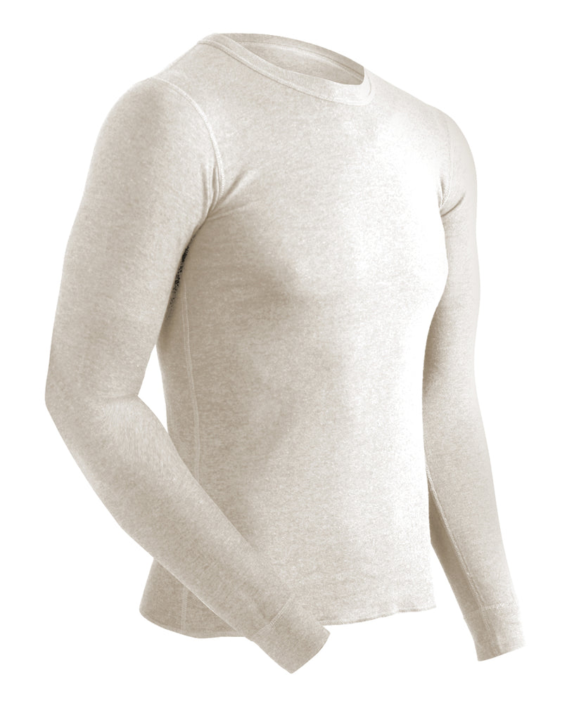 ColdPruf Authentic Wool Plus Men's Thermal Underwear Top in Oatmeal at Dave's New York