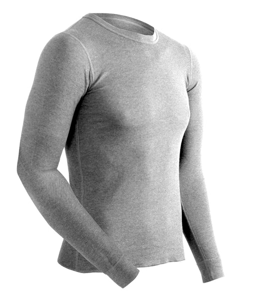 ColdPruf Men's Platinum II Base Layer Top in Grey at Dave's New York