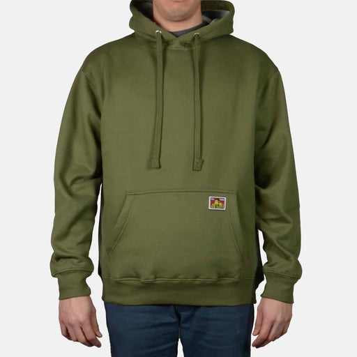 Ben Davis Heavyweight Hooded Sweatshirt in Olive at Dave's New York