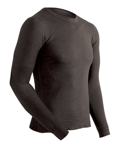 ColdPruf Men's Performance Base Layer Thermal Underwear Shirt – Black