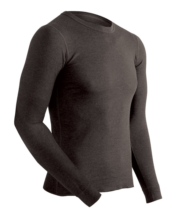 ColdPruf Men's Performance Base Layer Thermal Underwear Shirt in Black at Dave's New York