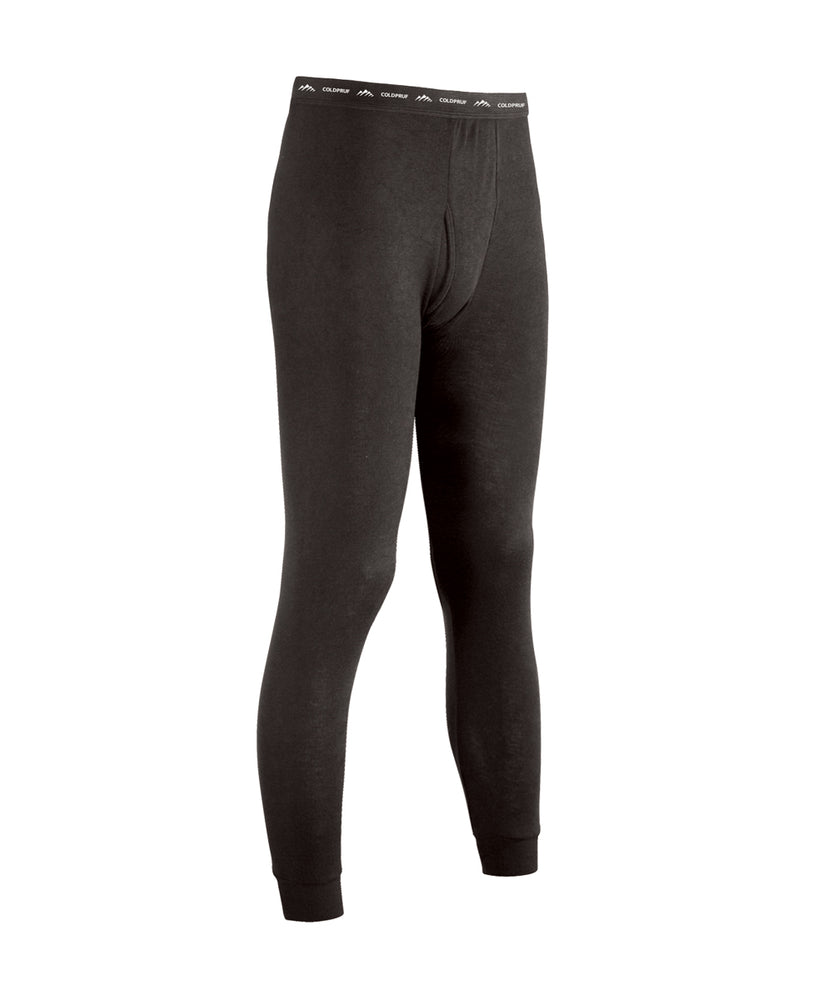ColdPruf Men's Performance Base Layer Thermal Underwear Pants in Black at Dave's New York