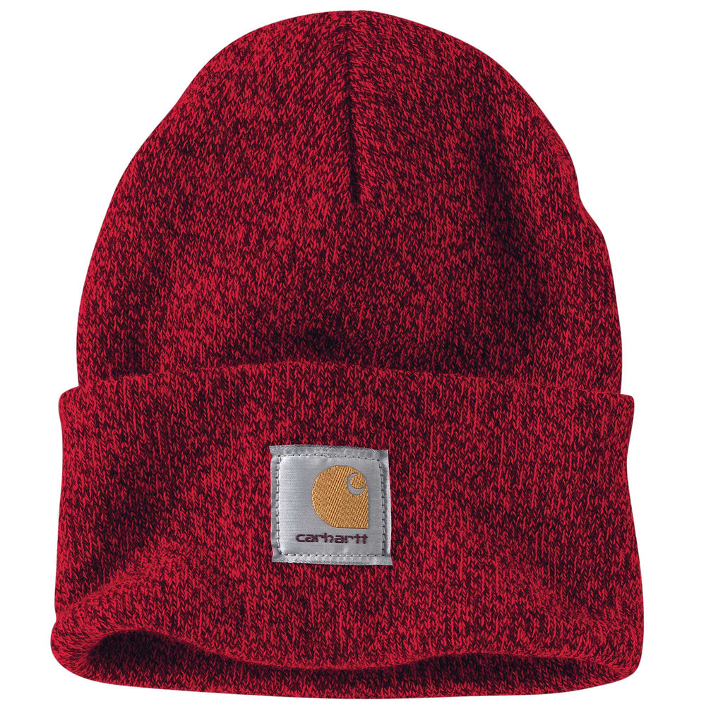Carhartt A18 Acrylic Knit Watch Hat in Red/Navy at Dave's New York