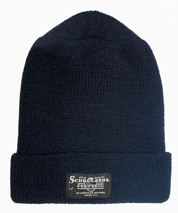 Schott NYC Wool Watch Cap - Navy Beanie at Dave's New York