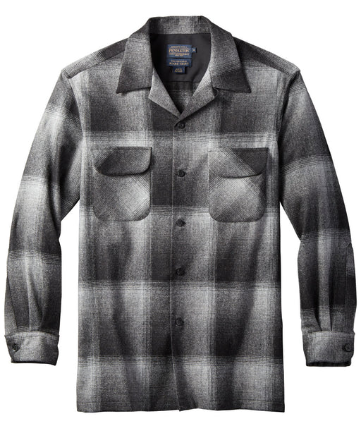 Pendleton Men's Classic Fit Wool Board Shirt – Charcoal Ombre