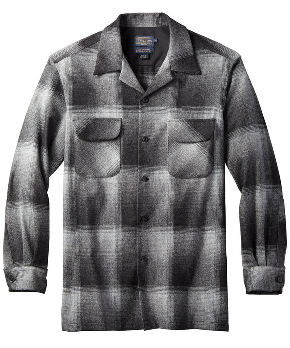 Pendleton Men's Classic Fit Wool Board Shirt in Charcoal Ombre at Dave's New York