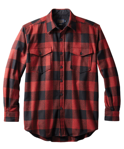 Pendleton Men's Classic Fit Wool Guide Shirt – Red/Black Buffalo Check