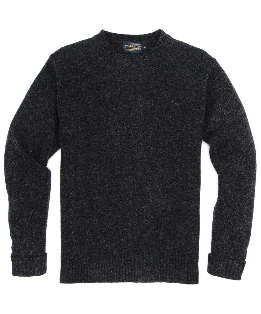 Pendleton Men's Shetland Crew Neck Sweater – Black Heather
