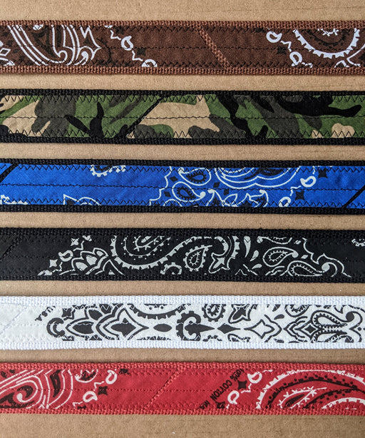 Cotton Canvas Web Belts with Customized Bandana  - Dave's New York