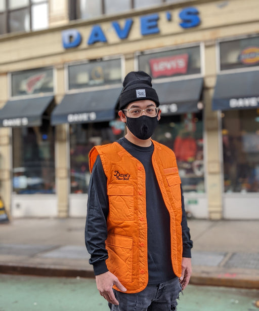 Alpha Industries Utility Vest with Dave's New York Embroidery - Emergency Orange at Dave's New York
