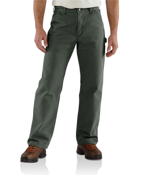 Carhartt B111 Washed Duck Flannel Lined Work Dungaree Pant in Moss at Dave's New York