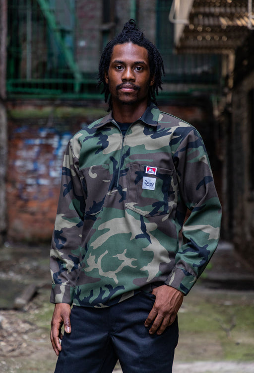 Ben Davis x Dave's New York Workwear Collab Shirt – Woodland Camo