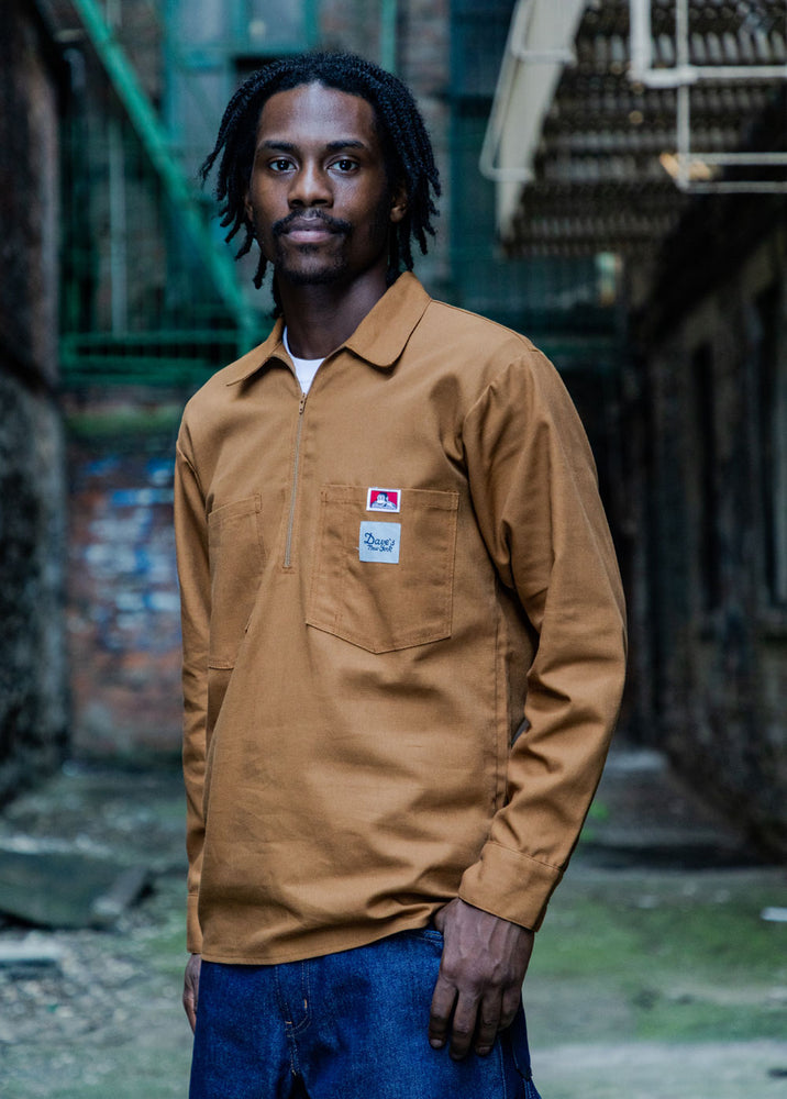 Ben Davis x Dave's New York Workwear Collab Shirt – Brown Canvas