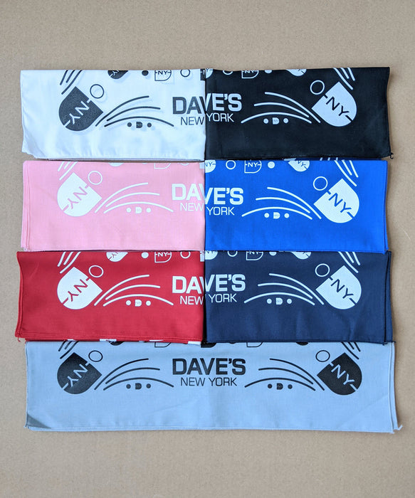 Dave's New York DNY Logo Bandana - Red