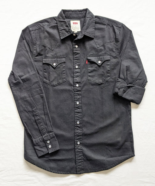 Levi's Men's Standard Western Denim Shirt in Onyx Black at Dave's New York