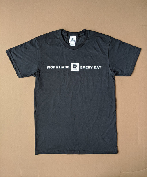 "Dave's New York ""Work Hard Every Day"" Tee - Black"