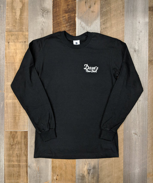 Dave's New York Long Sleeve Vintage Logo T-shirt - Black