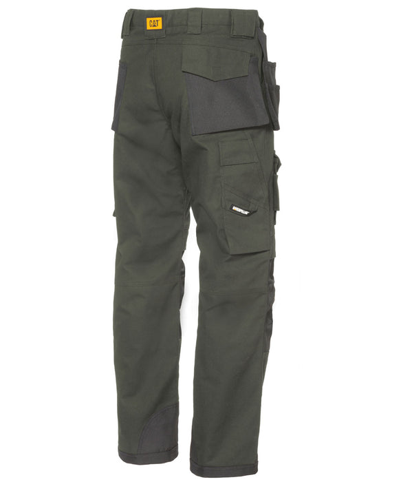 Caterpillar Trademark Trouser (with holster pockets) - Army Moss at Dave's New York