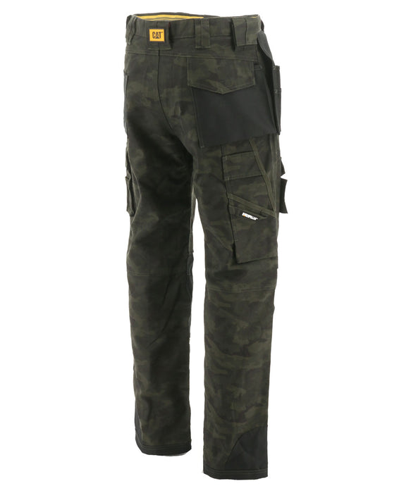 Caterpillar C172 Trademark Trouser (with holster pockets) in Night Camo at Dave's New York