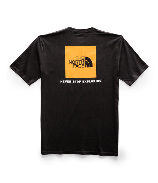 The North Face Men's Short Sleeve Red Box Tee - TNF Black / Citrine Yellow