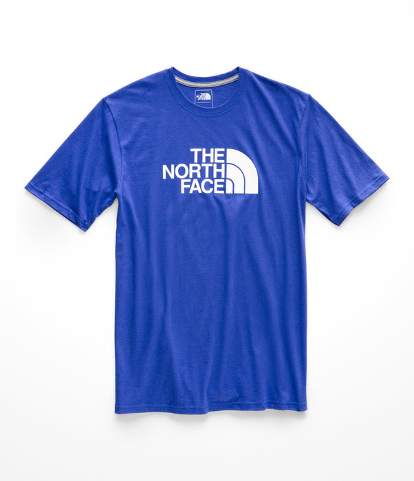The North Face Men's Short Sleeve Half Dome Logo Tee - Aztec Blue / TNF White