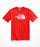 The North Face Men's Short Sleeve Half Dome Logo Tee - Fiery Red / TNF White