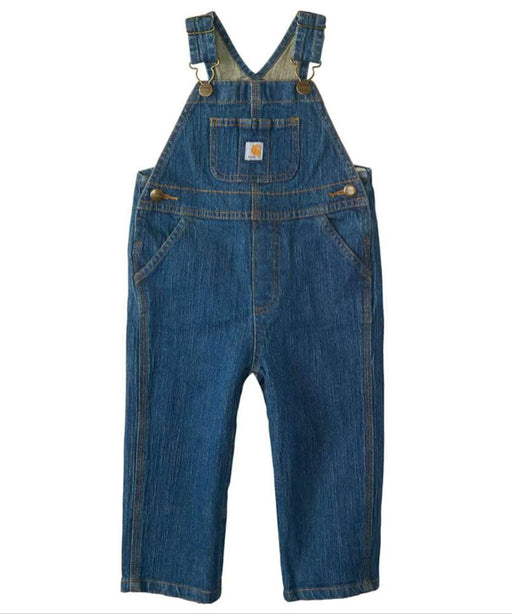 Carhartt Toddler Washed Denim Bib Overall - Medium Wash at Dave's New York