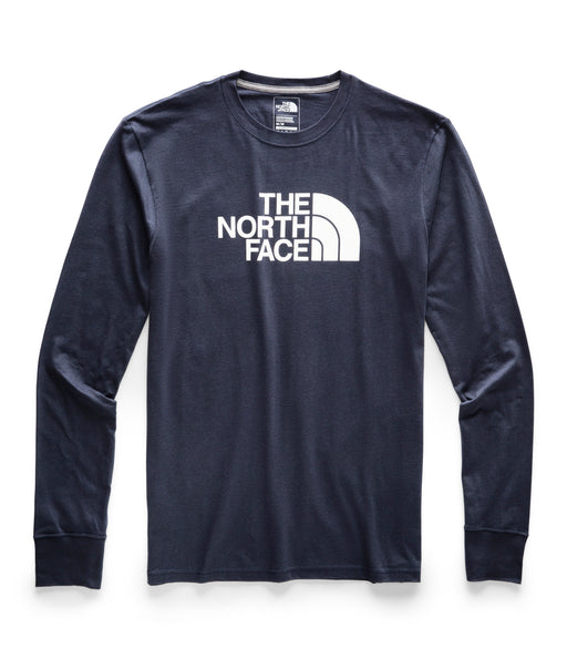The North Face Men's Long Sleeve Half Dome Logo Tee - Urban Navy/TNF White