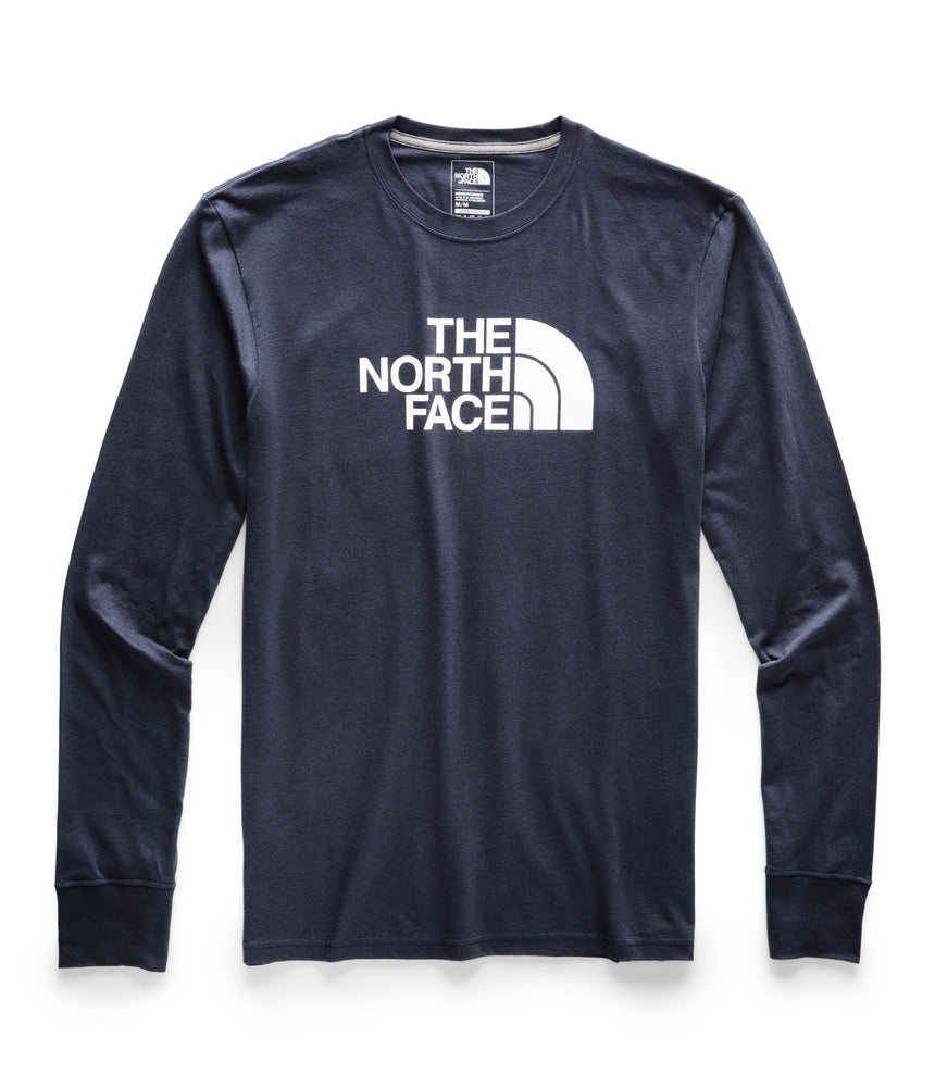 The North Face Men's Long Sleeve Half Dome Logo T-shirt in Urban Navy/TNF White at Dave's New York