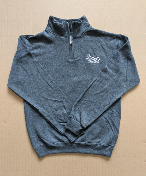 Dave's New York Men's Vintage Logo Half-Zip Sweatshirt
