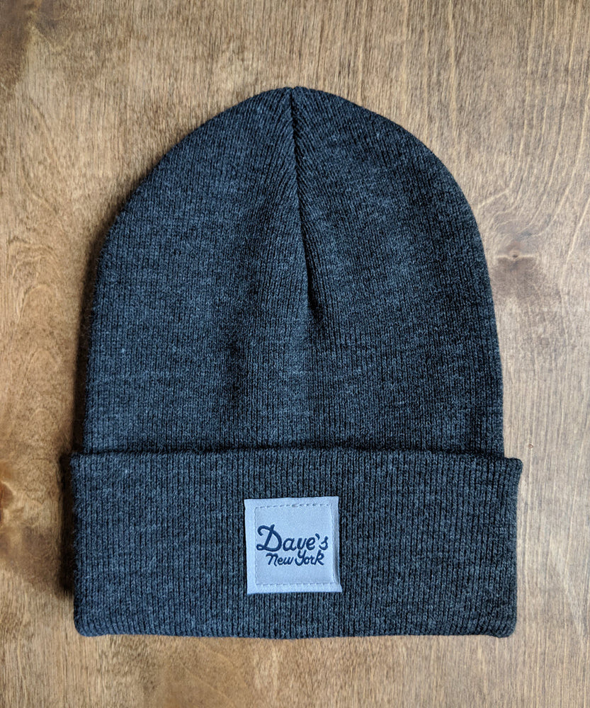 Dave's New York Vintage Logo Beanie - Charcoal Heather