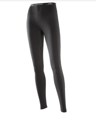Coldpruf Women's Basic Thermal Bottoms in Black at Dave's New York